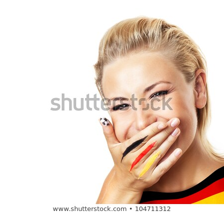 German pretty girl covers mouth Stock photo © Aikon
