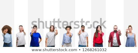 Man holding stop sign Stock photo © photography33