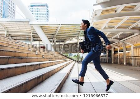бизнесмен стиль молодые успешный элегантный костюм Сток-фото © silent47