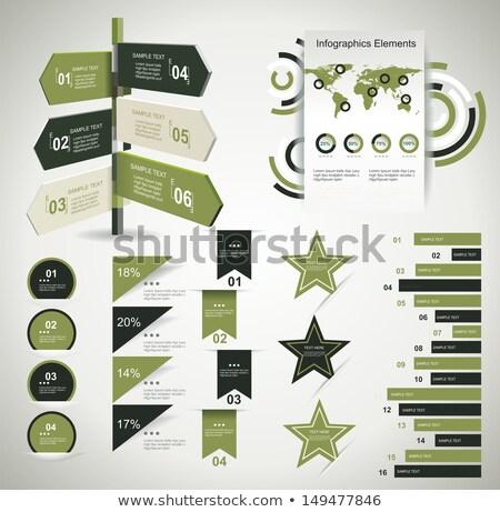Arrow infografiki szablon przestrzeni Zdjęcia stock © DavidArts