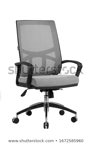 Stok fotoğraf: Gray Office Chair Isolated