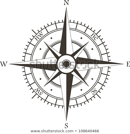 Compass rose on white background Stock photo © Lightsource