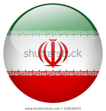 Glass button of the flag of Iran Stock photo © maxmitzu