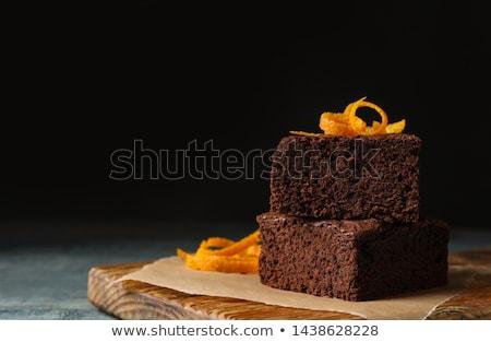 çikolatalı kek turuncu restoran turta krem kurabiye Stok fotoğraf © M-studio