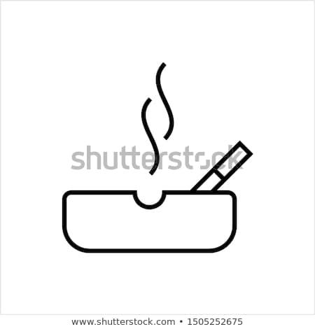 Icon asbak brand illustratie witte achtergrond seizoen Stockfoto © zzve