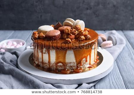 торт сироп меда продовольствие кафе Сток-фото © taden