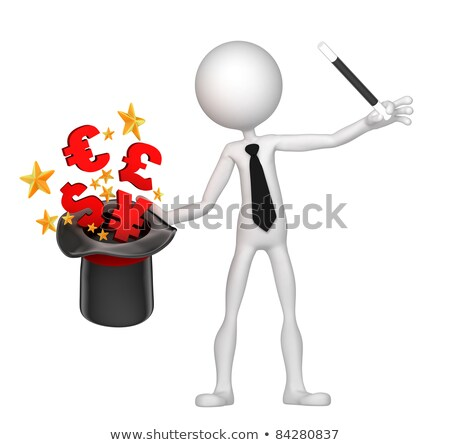 Businessman wizard make money from his hat Stock photo © Kirill_M