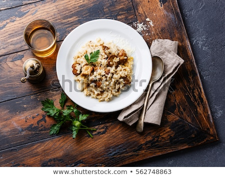 Gomba rizottó háttér rizs étel diéta Stock fotó © M-studio