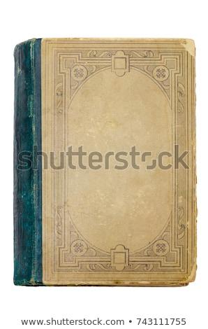 Régi könyv borító citromsárga iroda papír könyv Stock fotó © hanusst