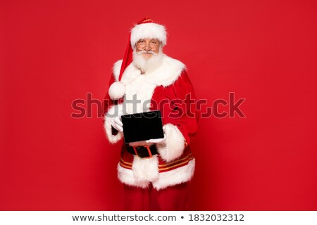 touchpad · portret · kerstman · naar - stockfoto © hasloo