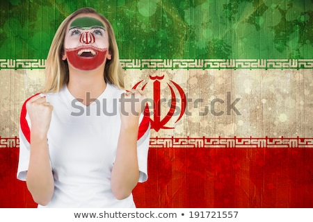フラグ イラン サッカー チーム 国 ストックフォト © MikhailMishchenko