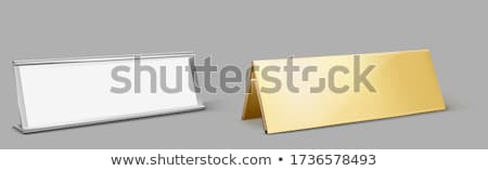 Metal with empty nameplate Stock photo © SSilver