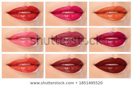 помада женщину лицом моде красные губы Сток-фото © milsiart