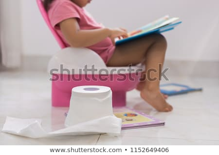Toddler on a potty Stock photo © naumoid
