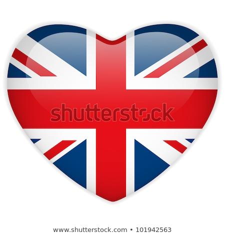 England Flag with heart Stock photo © kiddaikiddee