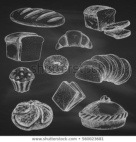 slices of rye bread and blackboard  Stock photo © marylooo