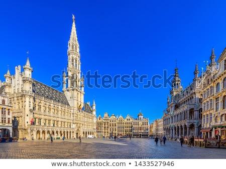 Straat centrum Brussel België bloemen huis Stockfoto © artjazz