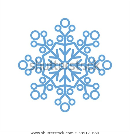Mavi kar tanesi beyaz stüdyo parlak Stok fotoğraf © Smileus