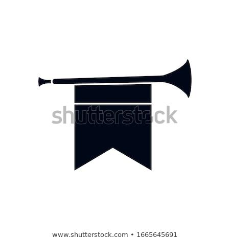 Trompette silhouettes jazz sonores modernes montrent Photo stock © Slobelix