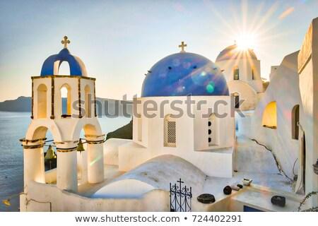Miasta santorini wyspa Grecja Urwisko budynku Zdjęcia stock © photocreo