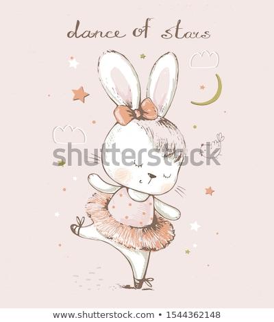 Weinig bunny meisje meisje oren Stockfoto © JamiRae
