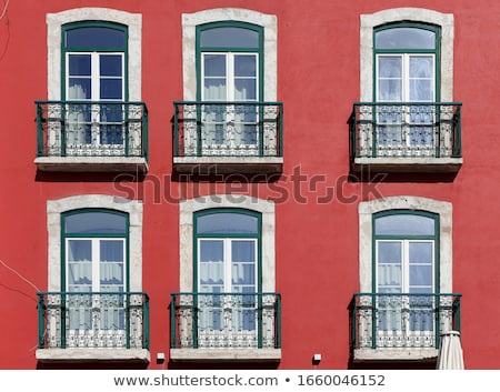 Lisboa ventana casa edificio madera calle Foto stock © boggy