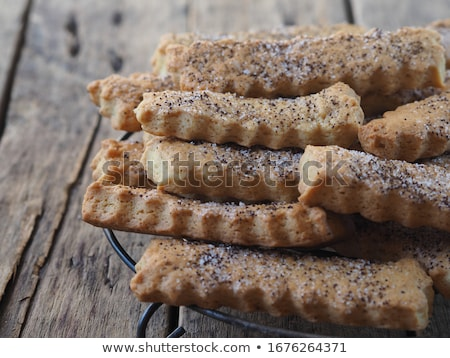 Shortbread Cookies with poppy seeds Stock photo © fresh_4870785