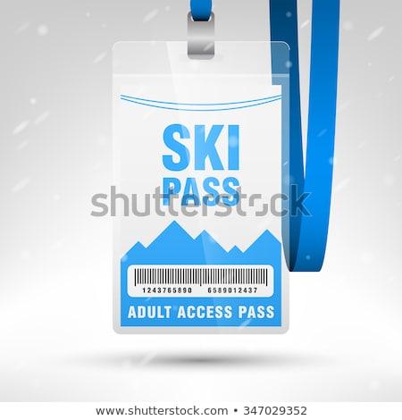 Sí passz sport hó hegy sziluett Stock fotó © adrenalina