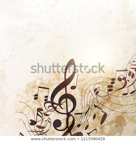 vintage style musical background stock photo © nito
