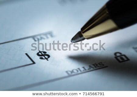 Stockfoto: Schrijven · controleren · winkelen · veiligheid · teken · macro