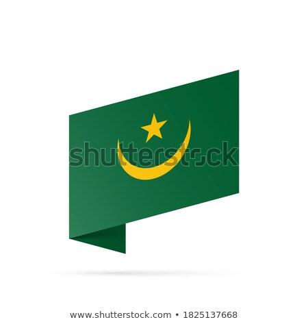 флаг · Мавритания · карта · фон · знак · путешествия - Сток-фото © mayboro1964