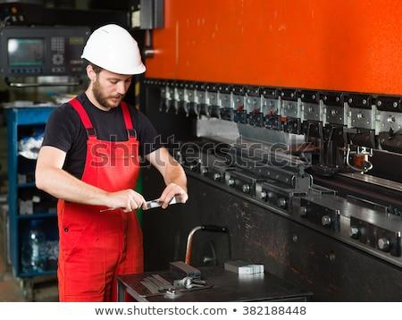 werk · metaal · versnellingen · zwarte · baan · machine - stockfoto © tashatuvango