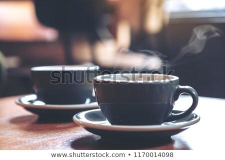 Herbaty dwa kolorowy drewna tle Zdjęcia stock © BarbaraNeveu