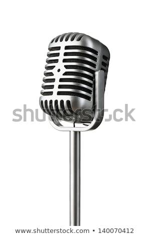 ретро · микрофона · изолированный · белый · технологий · рок - Сток-фото © ozaiachin