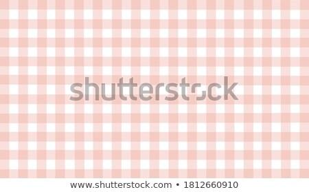 Bej turuncu kahverengi masa örtüsü dokuz kare Stok fotoğraf © zhekos