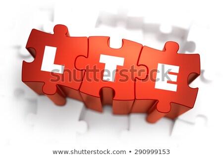 LTE - Text on Red Puzzles. Stock photo © tashatuvango