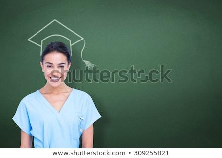 Jovem enfermeira azul túnica branco homem Foto stock © wavebreak_media