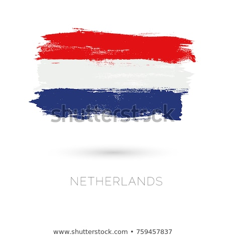 Grunge vlag Nederland Blauw Rood witte Stockfoto © olgaaltunina