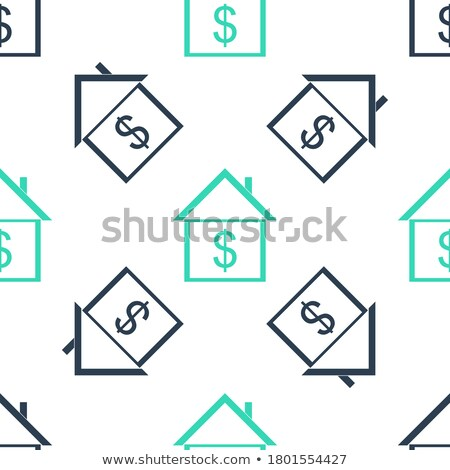 Drawn colored green house with dollar sign Stock photo © cherezoff