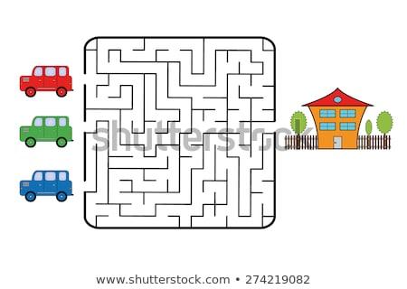 Autók belépés labirintus gól tartózkodás előre Stock fotó © teerawit
