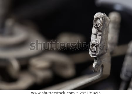 Q hammer - old manual typewriter Stock photo © michaklootwijk