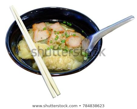 çanak · sığır · eti · fileto · pirinç · çorba · Çin · yemek · çubukları - stok fotoğraf © art9858