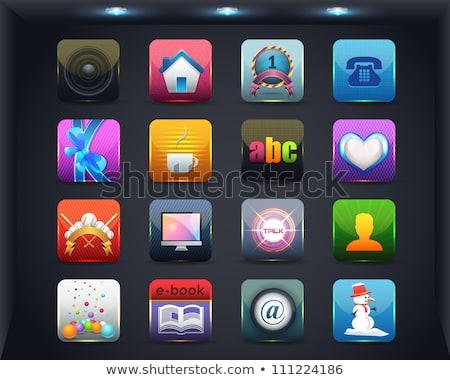 Közösségi média hálózat ikon szett zene internet rádió Stock fotó © Genestro