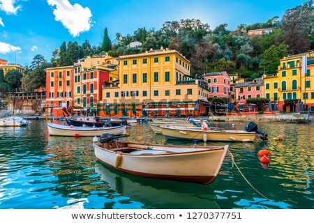 Boat anchored in front of a house Stock photo © epstock