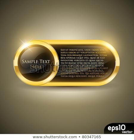 üzenet arany vektor ikon terv beszéd Stock fotó © rizwanali3d
