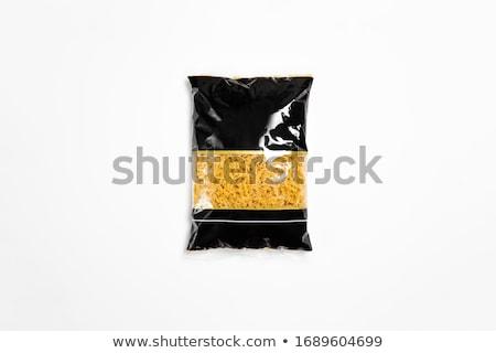 Italiana spaghetti trasparente bag pacchetto isolato Foto d'archivio © netkov1