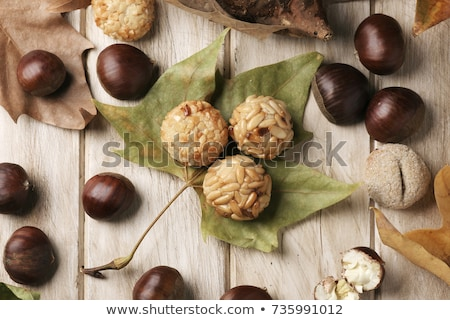panellets, typical sweet food in All Saints Day in Catalonia, Sp Stock photo © nito