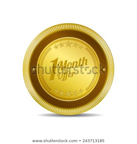 1 Month Deal Golden Vector Icon Button Stock photo © rizwanali3d