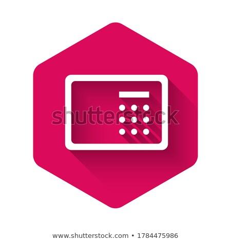 Vault Pink Vector Button Icon Stock photo © rizwanali3d