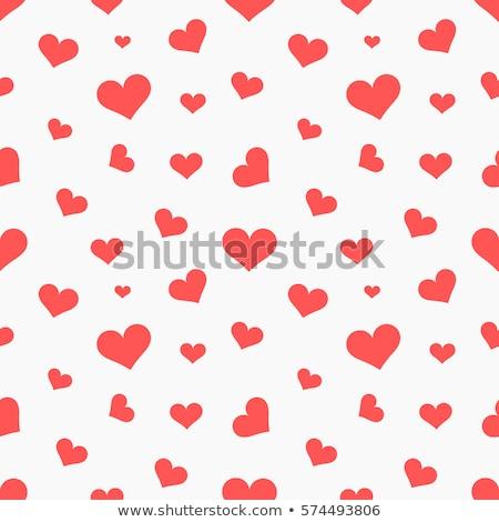 Foto stock: Sem · costura · corações · padrão · romântico